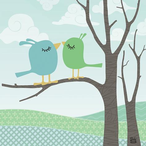 fågelparet