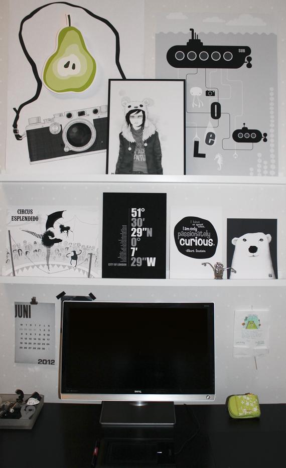 miramolns arbetsplats med grafiska tryck