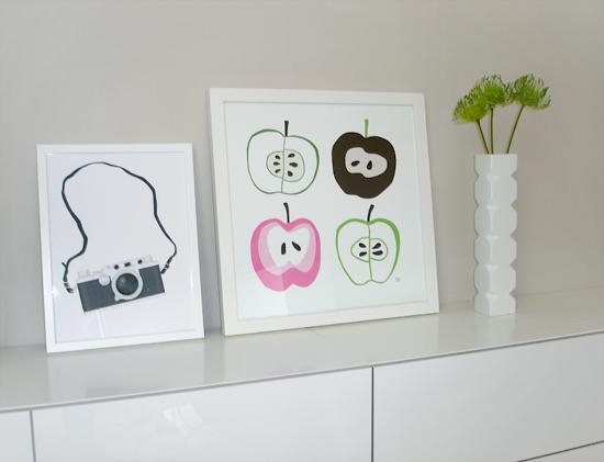 """Trycket """"Äpplen"""" finns i webbutiken hos miramoln.se"""