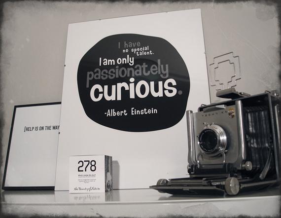 gammal fin kamera och mira molns grafiska tryck Einstein