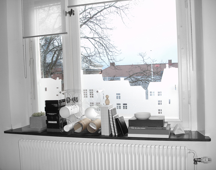 frostad plastfilm till fönster