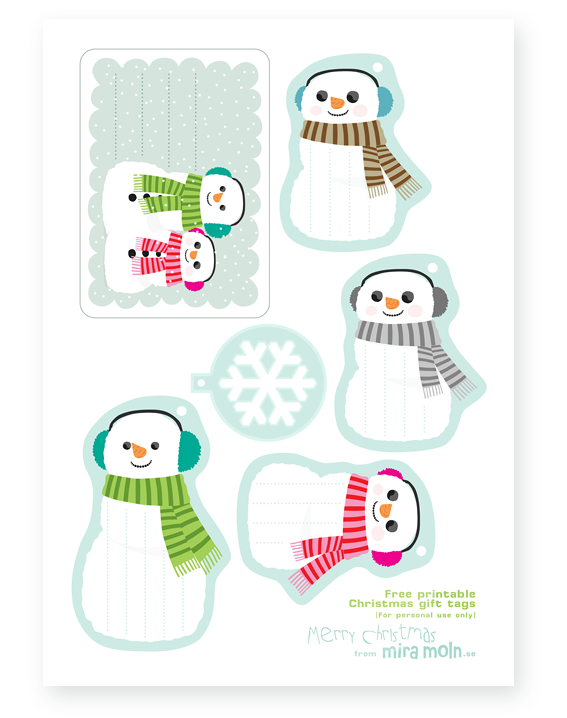free christmas gift tags from miramoln.se